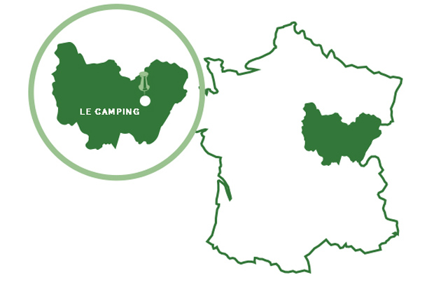 camping lac saint point map region