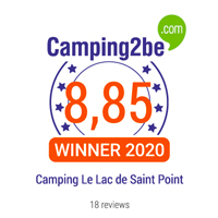 camping2be award lac de saint point